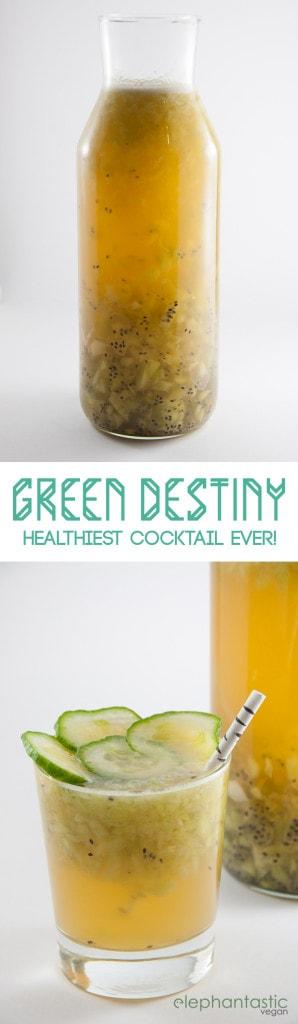 Green Destiny Cocktail | ElephantasticVegan.com