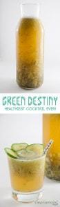 Green Destiny Cocktail   ElephantasticVegan.com