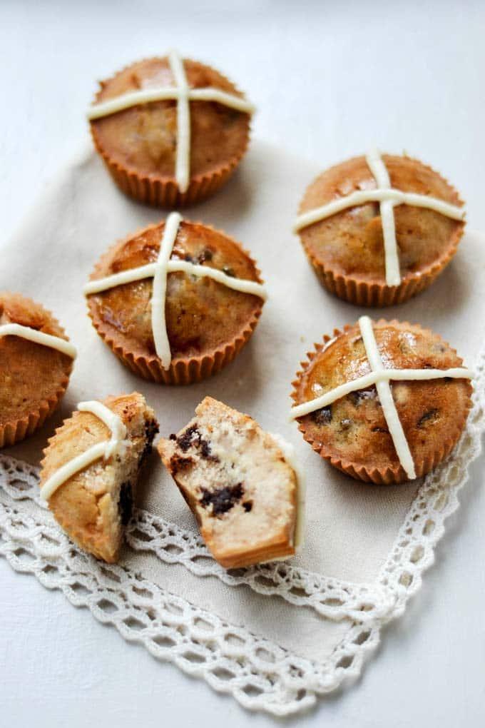 Nakd Hot Cross Bun Cupcakes by Wallflower Girl