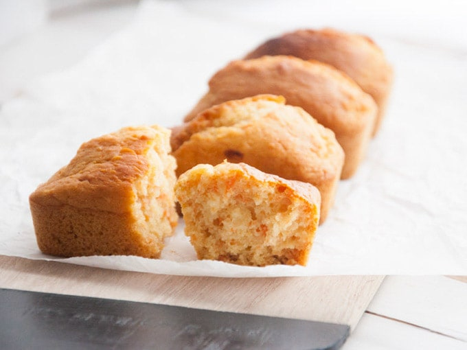 Vegan Mini Carrot Cake Loaves by Elephantastic Vegan