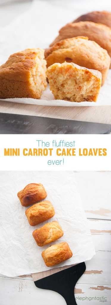 Vegan Mini Carrot Cake Loaves | ElephantasticVegan.com