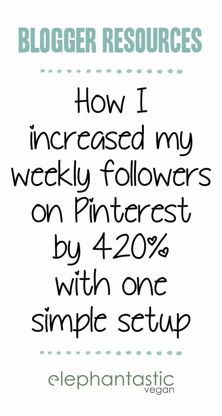How to get the most out of Pinterest for your Blog - More Follower & More Repins with a simple setup | ElephantasticVegan.com
