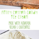 Vegan Minty Cotton Candy Ice Cream made with Aquafaba | ElephantasticVegan.com