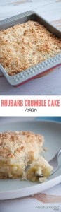 Vegan Rhubarb Crumble Cake   ElephantasticVegan.com