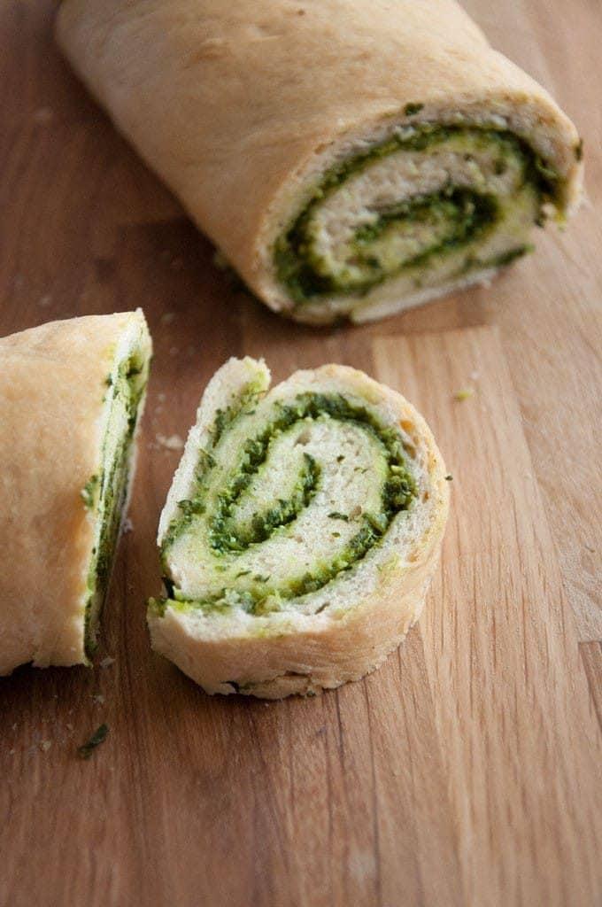 Wild Garlic Pesto Swirl Bread