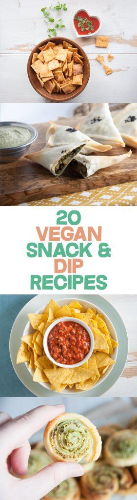 20 Vegan Snack And Dip Recipes   ElephantasticVegan.com