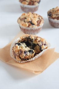 Vegan Blueberry Lemon Streusel Muffins | ElephantasticVegan.com