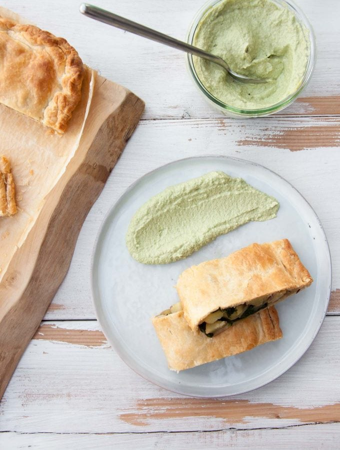 Vegan Potato & Spinach Strudel