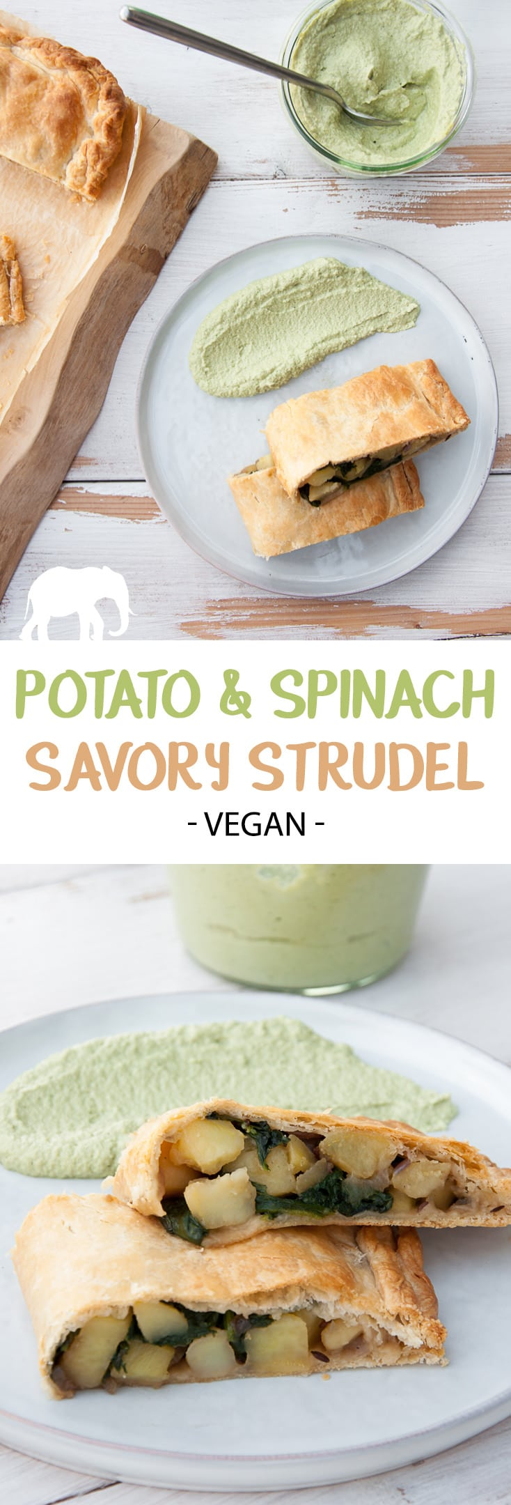 Potato & Spinach Savory Strudel #vegan #potato #spinach #strudel #savory