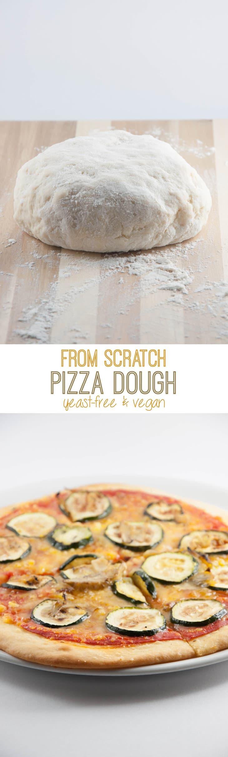 Yeast-Free Vegan Pizza Dough | ElephantasticVegan.com