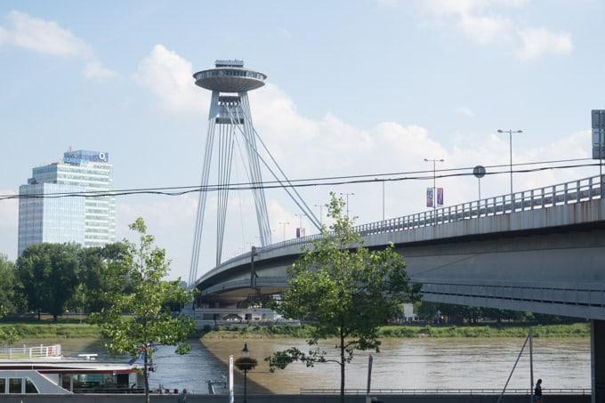 Bratislava Bridge & UFO Restaurant