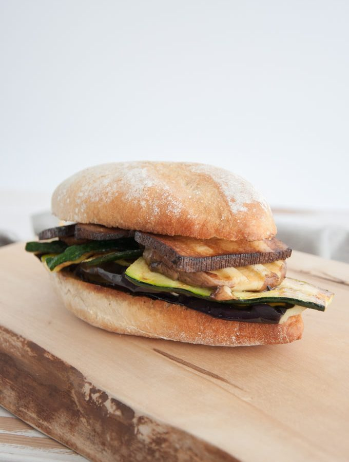 Mediterranean Veggie Sandwich with Smoked Tofu | ElephantasticVegan.com
