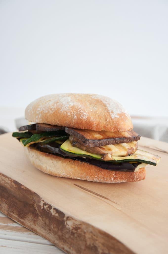 Mediterranean Veggie Sandwich with Smoked Tofu   ElephantasticVegan.com