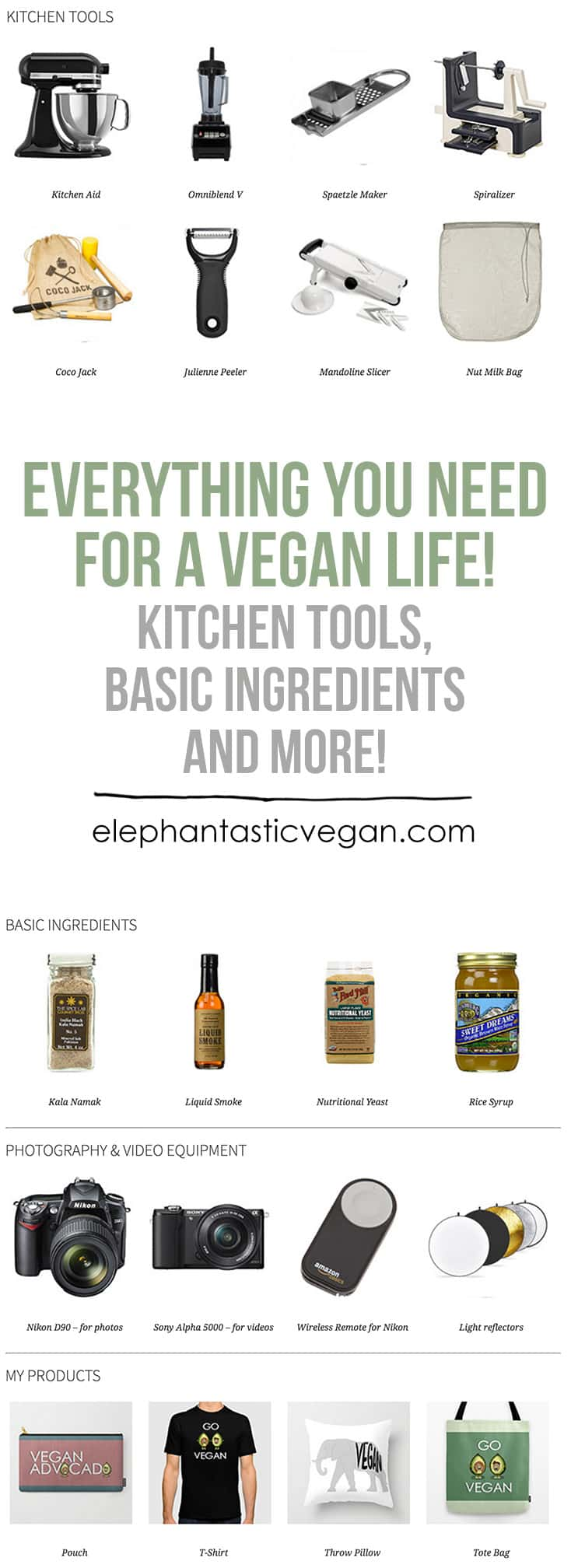 Everything a vegan needs - Shop | ElephantasticVegan.com