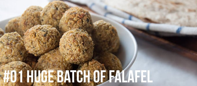 Huge Batch of Oven Baked Falafel