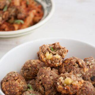 Cheesy Vegan Meatballs