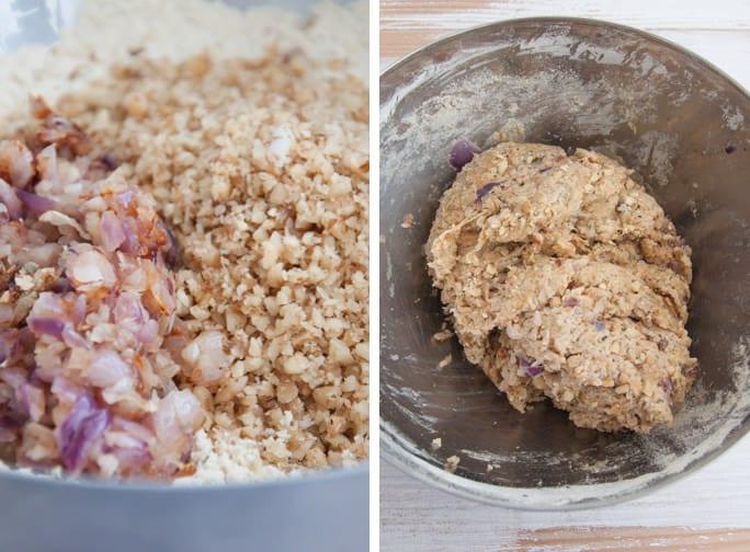 Cheesy Vegan Meatballs Process  ElephantasticVegan.com