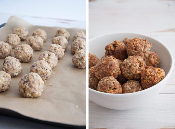 Cheesy Vegan Meatballs   ElephantasticVegan.com