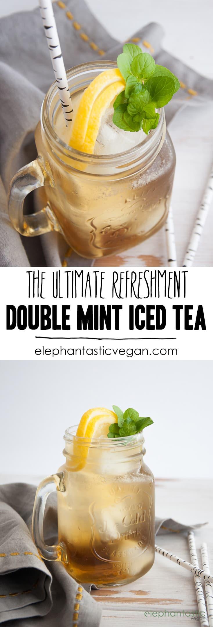 Double Mint Iced Tea | ElephantasticVegan.com