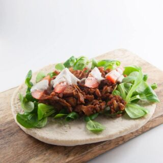 Pulled Jackfruit Wrap