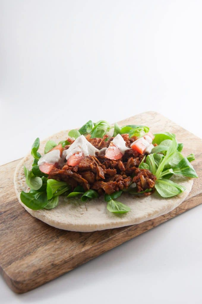 Pulled Jackfruit Wrap | ElephantasticVegan.com