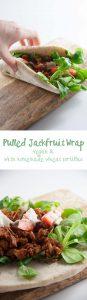 Pulled Jackfruit Wrap   ElephantasticVegan.com