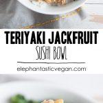 Teriyaki Jackfruit Sushi Bowl   ElephantasticVegan.com