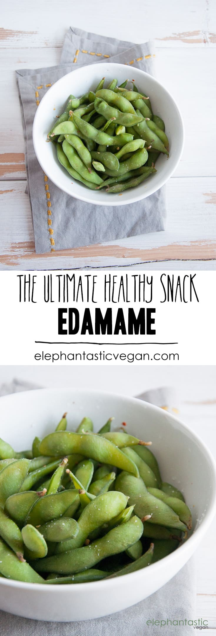 Basic Edamame - The Ultimate Healthy Snack   ElephantasticVegan.com #edamame #vegan #snack #healthy #soybean