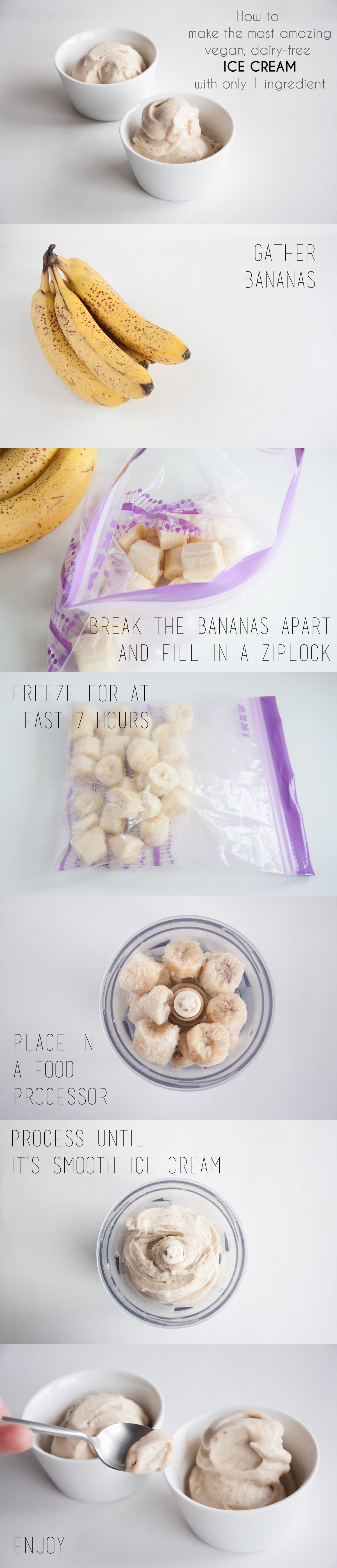 Nice Cream - How to make the best vegan ice cream with bananas only! #veginners #nicecream #vegan