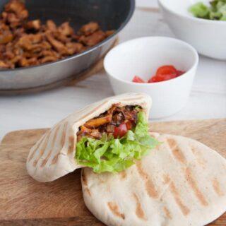 Vegan Chanterelle Pitas