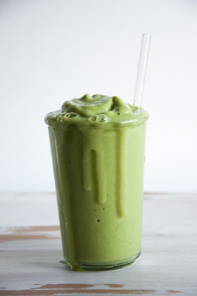 Frozen Green Smoothie | ElephantasticVegan.com