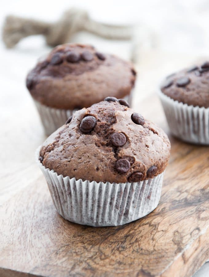 Simple Vegan Chocolate Muffins