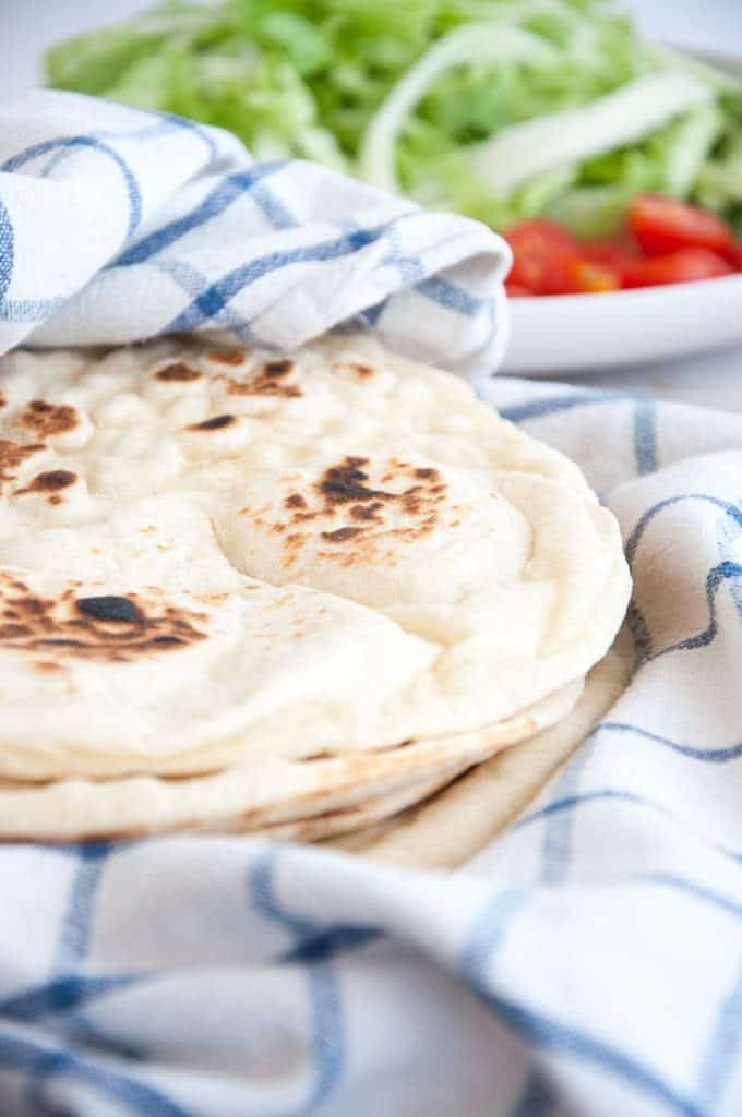 Thick Fluffy Tortillas from scratch