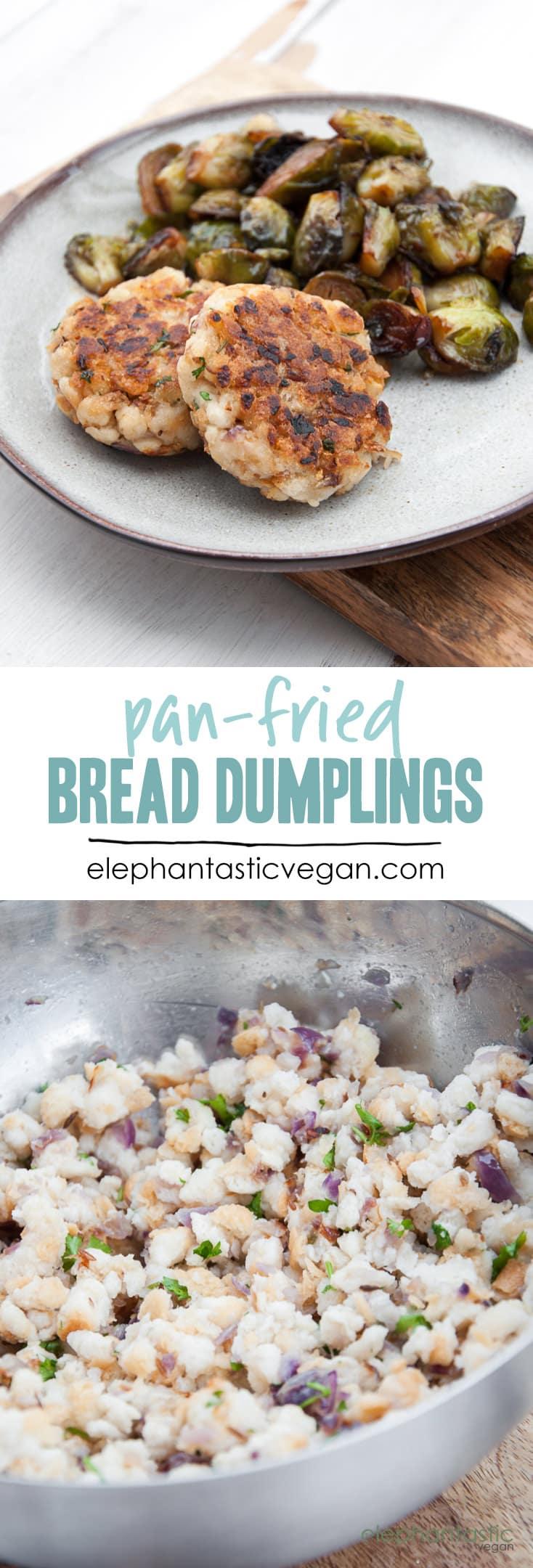Pan-Fried Bread Dumplings | ElephantasticVegan.com