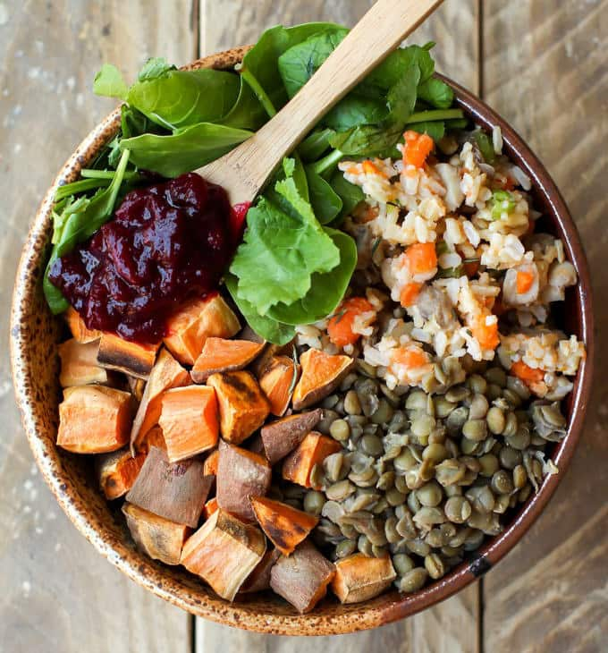 Vegan Thanksgiving Power Bowl - Feasting on Fruit