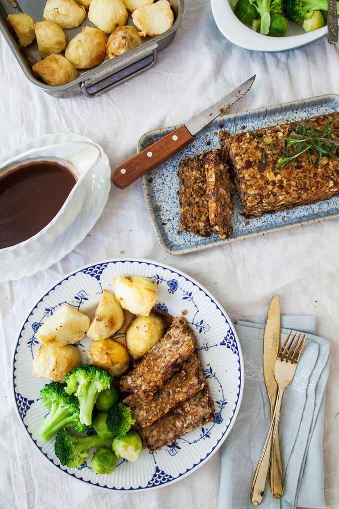 Lentil Roast with Balsamic Onion Gravy - Wallflower Kitchen