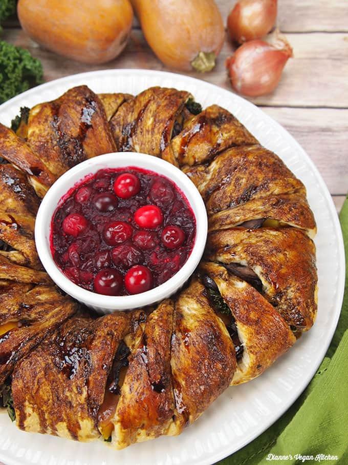 Vegetable Crescent Roll Ring - Dianne's Vegan Kitchen