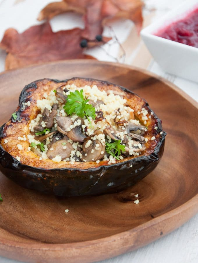 Couscous Stuffed Acorn Squash