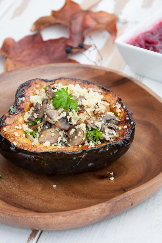 Couscous Stuffed Acorn Squash | ElephantasticVegan.com