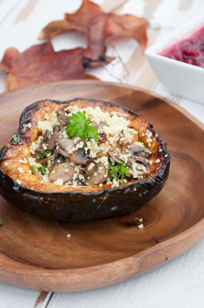 Couscous Stuffed Acorn Squash |ElephantasticVegan.com