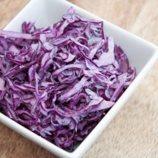 Easy & Vegan Garlic Slaw | ElephantasticVegan.com