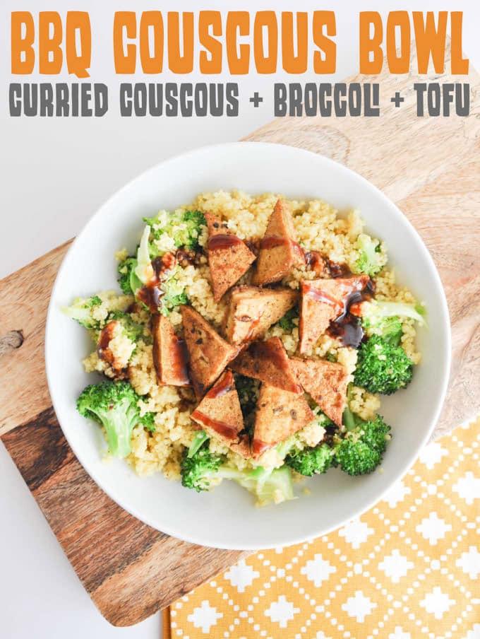 BBQ Couscous Bowl | ElephantasticVegan.com