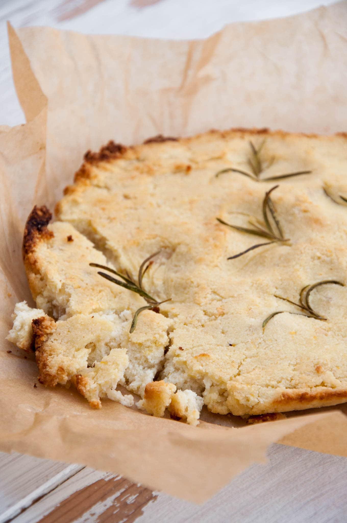 Baked Almond Feta with Rosemary | ElephantasticVegan.com
