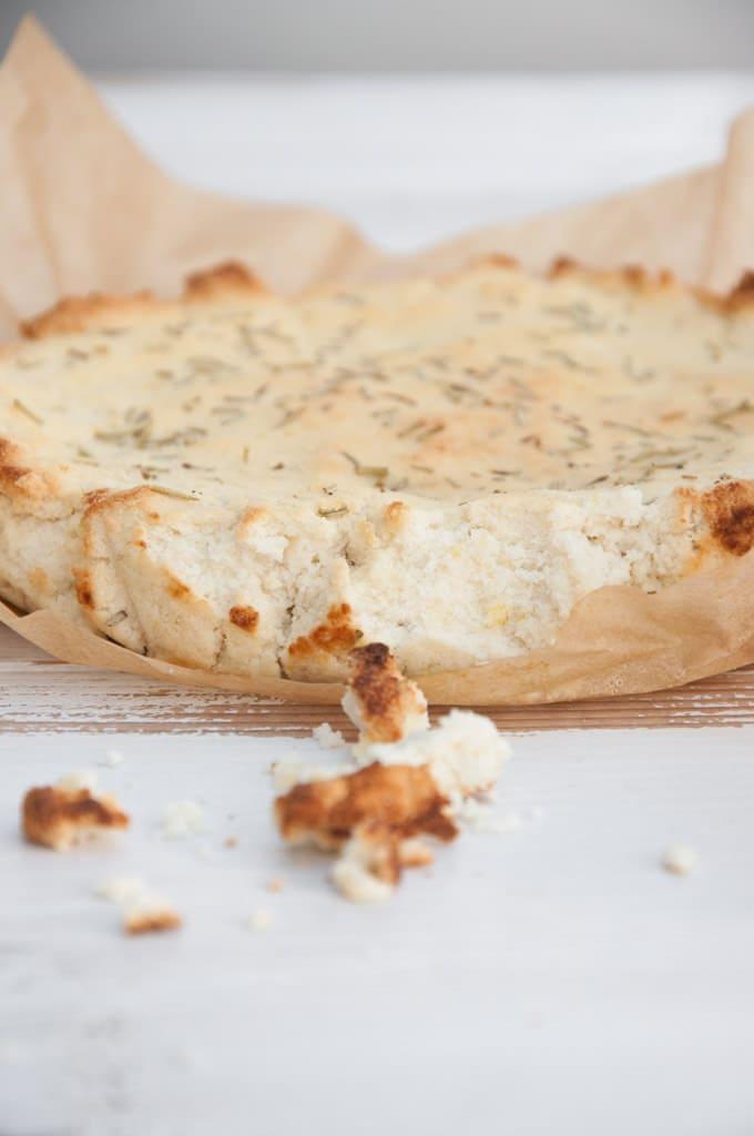 Baked Almond Feta with Rosemary |ElephantasticVegan.com