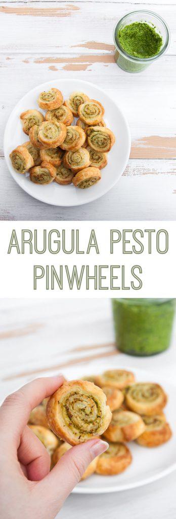 Vegan Arugula Pesto Pinwheels  ElephantasticVegan.com