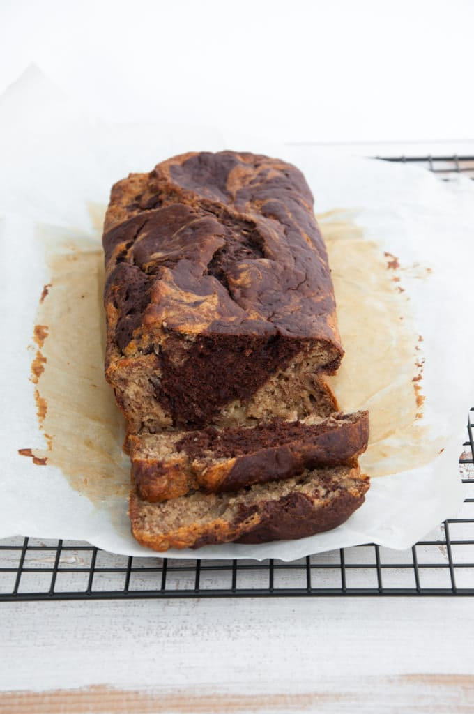 Marble Banana Bread inside