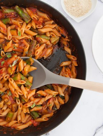 Quick Date Night Pasta with Asparagus from top