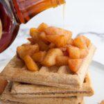 Vegan Apple Pie Waffles