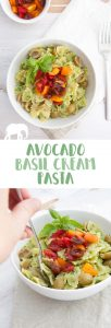 Avocado Basil Cream Pasta | ElephantasticVegan.com
