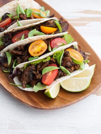 Vegan and Oil-Free Pulled Portobello Tacos